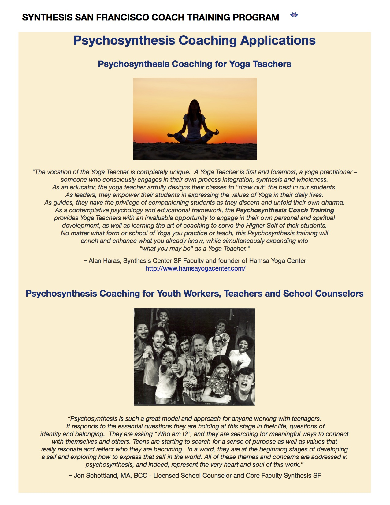 psychosynthesis training program san francisco View marjorie gross center's psychosynthesis teacher training program training with in-person options in ny and san francisco.