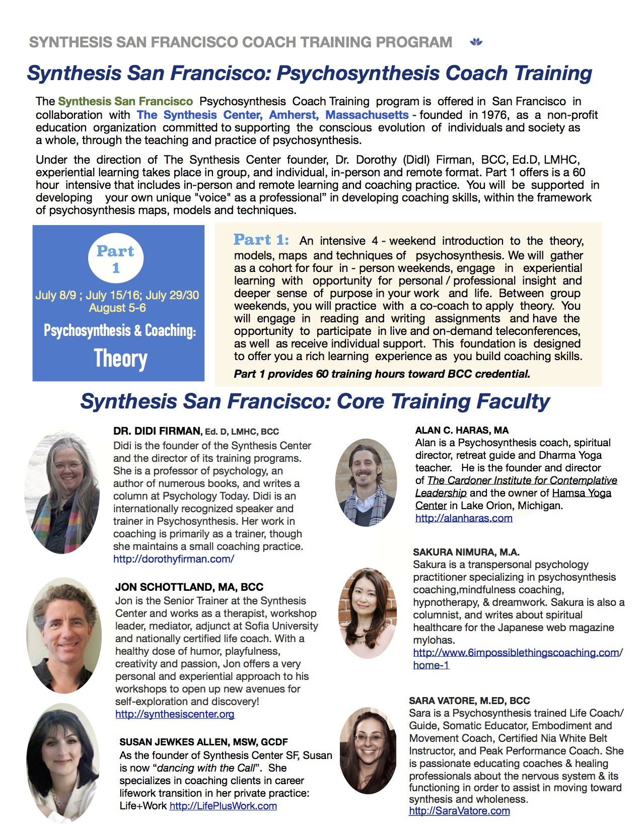 psychosynthesis training program san francisco Se marjorie gross profil  coach training with in-person options in ny and san francisco,  a psychosynthesis training program designed for personal.