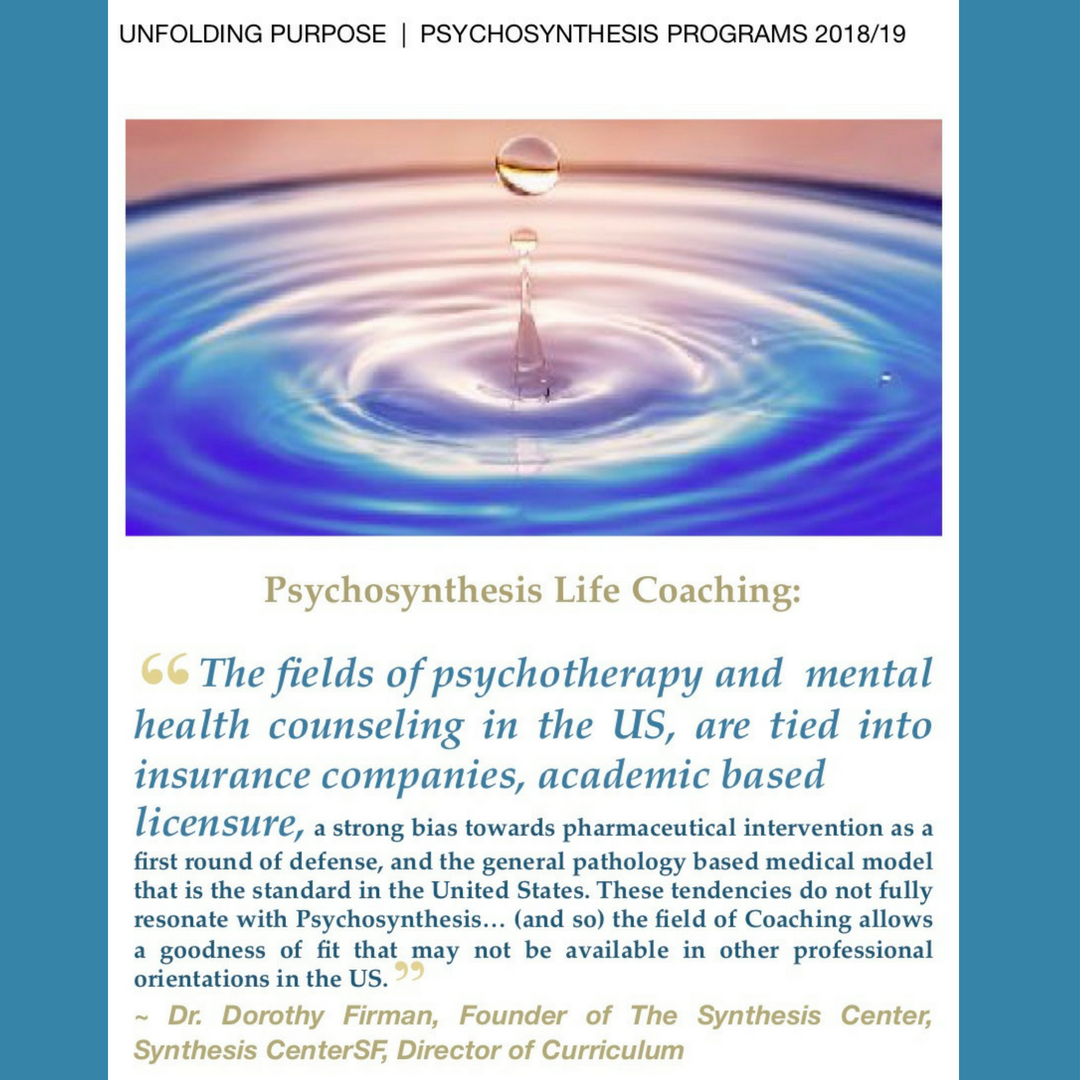 About Psycho synthesis Coaching - Synthesis Center San Francisco